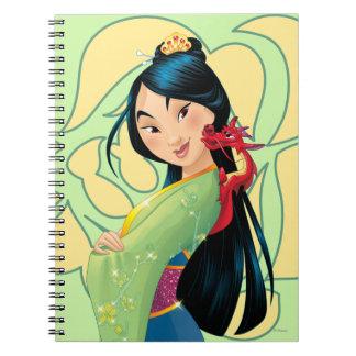 Mulan and Mushu Spiral Notebook