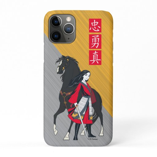 Mulan Beside Black Wind Illustration iPhone 11 Pro Case