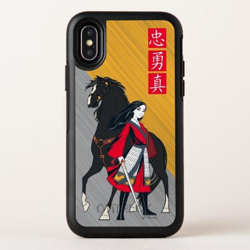 Mulan Beside Black Wind Illustration OtterBox Symmetry iPhone XS Case