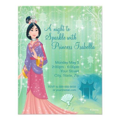 Mulan Birthday Invitation Announcement