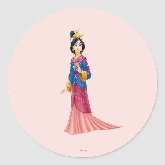 Mulan Dress Classic Round Sticker