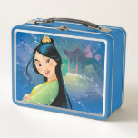 """Mulan   Fearless Dreamer Metal Lunch Box<br><div class=""""desc"""">Disney Princesses are empowered heroines who dream,  create and celebrate magical adventures! They help inspire young girls to see how brave,  strong and fearless they are. These princesses focus on their friendships and embracing adventure.</div>"""