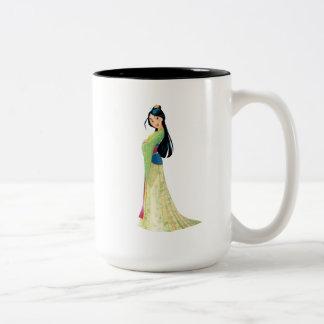 Mulan   Fearless Dreamer Two-Tone Coffee Mug