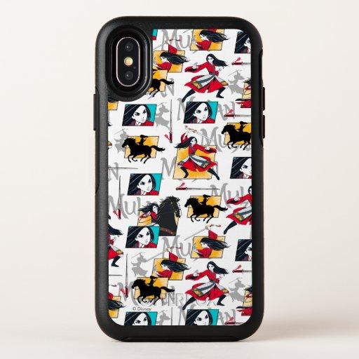 Mulan Illustrated Panels Pattern OtterBox Symmetry iPhone XS Case