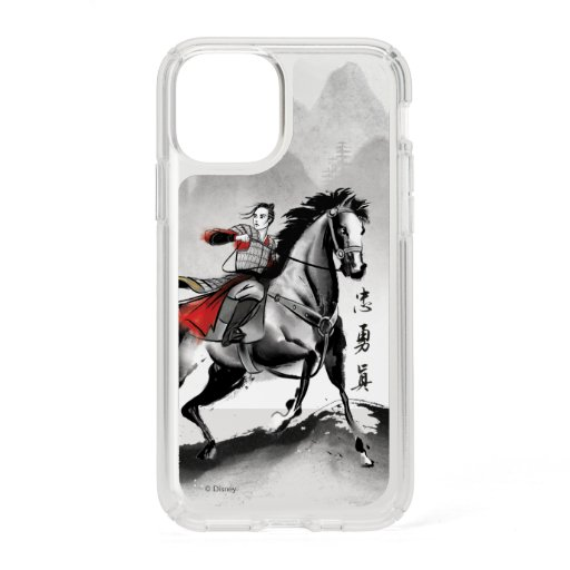 Mulan In Armor Riding Black Wind Watercolor Speck iPhone 11 Pro Case