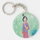 Mulan Princess Basic Round Button Keychain