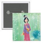 Mulan Princess Buttons