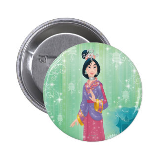 Mulan Princess Pinback Button