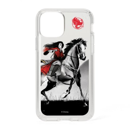 Mulan Riding Black Wind Framed Watercolor Speck iPhone 11 Pro Case
