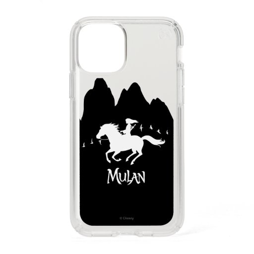 Mulan Riding Black Wind Past Mountains Silhouette Speck iPhone 11 Pro Case