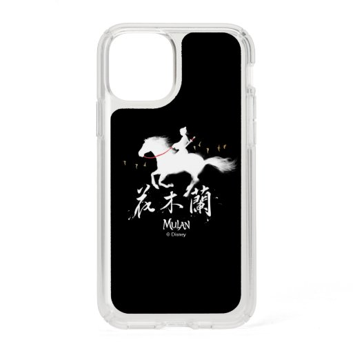 Mulan Riding Black Wind Silhouette Watercolor Speck iPhone 11 Pro Case