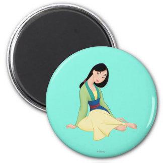 Mulan Sitting Fridge Magnets