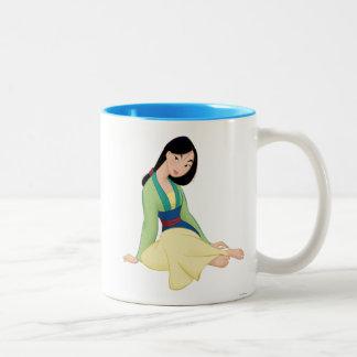 Mulan Sitting Two-Tone Coffee Mug
