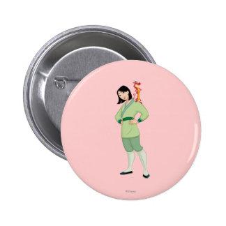 Mulan With Mushu Pinback Button