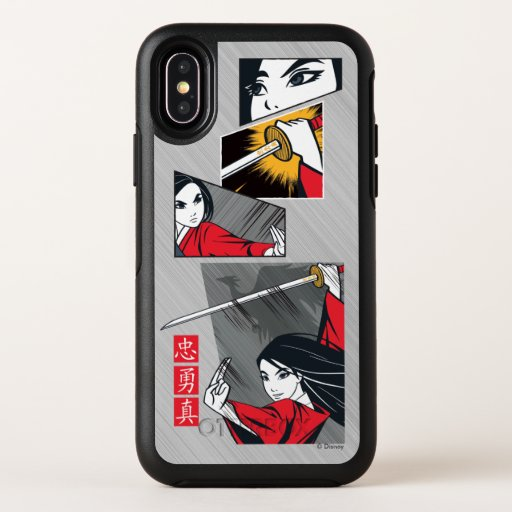 Mulan With Sword Illustrated Panels OtterBox Symmetry iPhone XS Case
