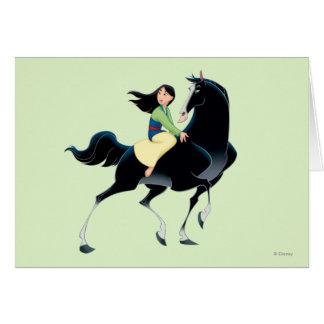 Mulan y Khan Tarjeta De Felicitación