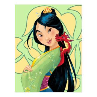 Mulan y Mushu Postales