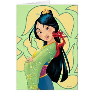 Mulan y Mushu Tarjeta De Felicitación