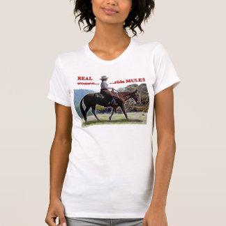 Mulas del paseo de las mujeres reales camisetas