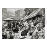 Mulberry Bend Italian Colony in New York Greeting Card