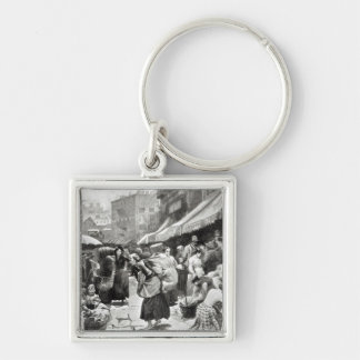 Mulberry Bend Italian Colony in New York Keychain