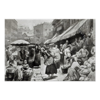 Mulberry Bend Italian Colony in New York Poster