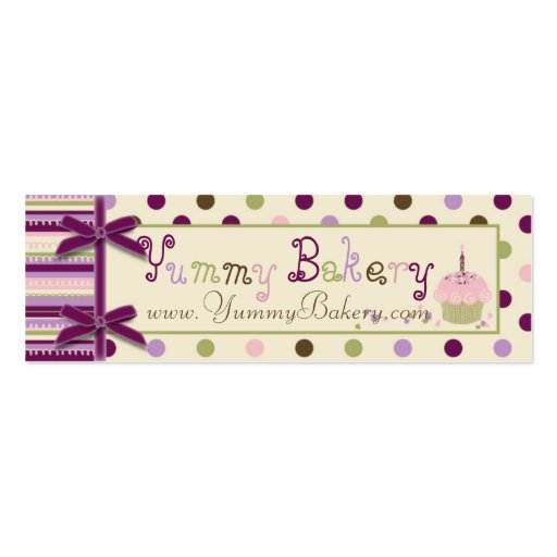 Mulberry Dot Skinny Business Card
