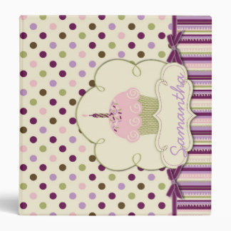 Mulberry Dots 1.5 in Binder