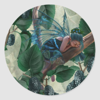 Mulberry Fairy Classic Round Sticker