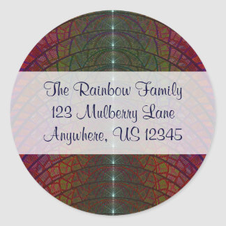 Mulberry Moon Envelope Seal Classic Round Sticker