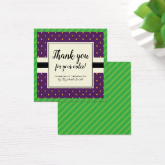 Mulberry pattern purple berry fruit thank you card