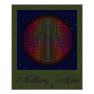 Mulberry Rainbow Moon Poster