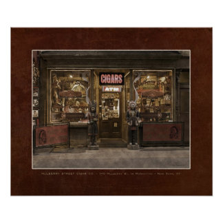 Mulberry St. Cigar Co. - Faux Vintage POSTER