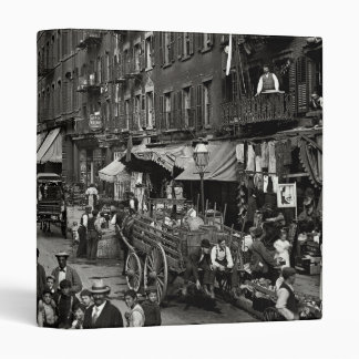 Mulberry Street in New York City, ca. 1900 3 Ring Binder