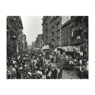 Mulberry Street in New York City, ca. 1900 Canvas Print