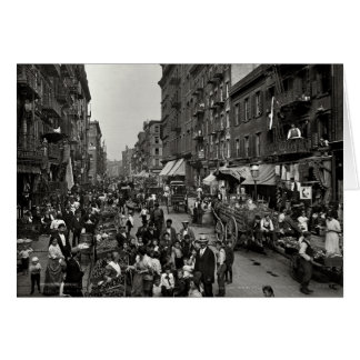 Mulberry Street in New York City, ca. 1900 Card