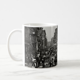 Mulberry Street in New York City, ca. 1900 Coffee Mug