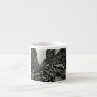 Mulberry Street in New York City, ca. 1900 Espresso Cup