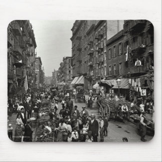 Mulberry Street in New York City ca 1900 Mouse Pad