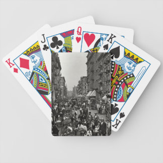 Mulberry Street in New York City, ca. 1900 Poker Cards