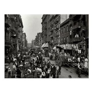 Mulberry Street in New York City, ca. 1900 Postcard