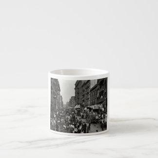 Mulberry Street in New York City, ca. 1900 6 Oz Ceramic Espresso Cup
