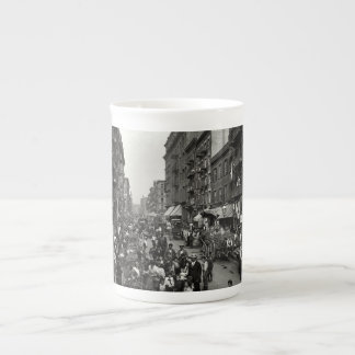 Mulberry Street in New York City, ca. 1900 Tea Cup