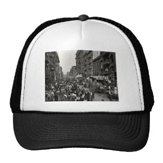 Mulberry Street in New York City, ca. 1900 Trucker Hat
