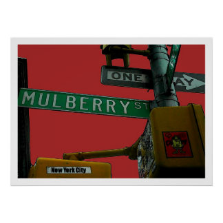 """""""Mulberry Street: Little Italy"""" New York City  Poster"""