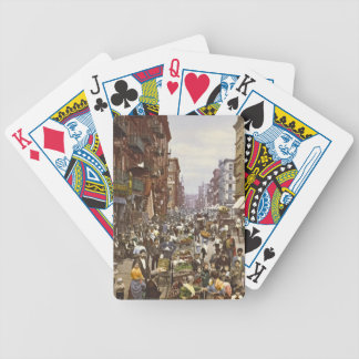 Mulberry Street Market New York City 1900 Bicycle Playing Cards