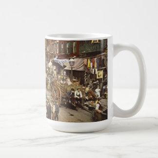 Mulberry Street Market New York City 1900 Coffee Mug