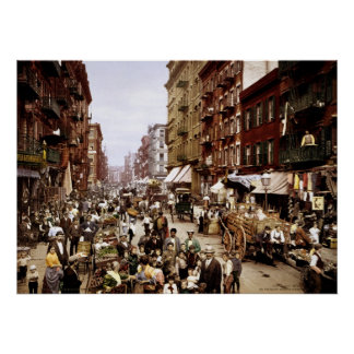 Mulberry Street, New York City, NY 1900 Poster