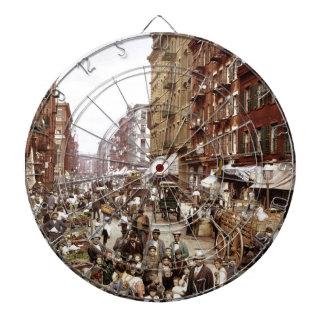 Mulberry Street NYC ca.1900 Dartboard