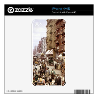 Mulberry Street NYC ca.1900 Decal For The iPhone 4